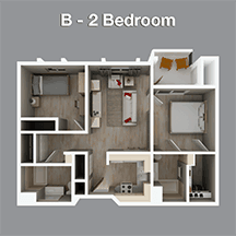 Two Bedroom Apartment in Independent Living