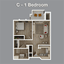 One Bedroom Apartment in Independent Living